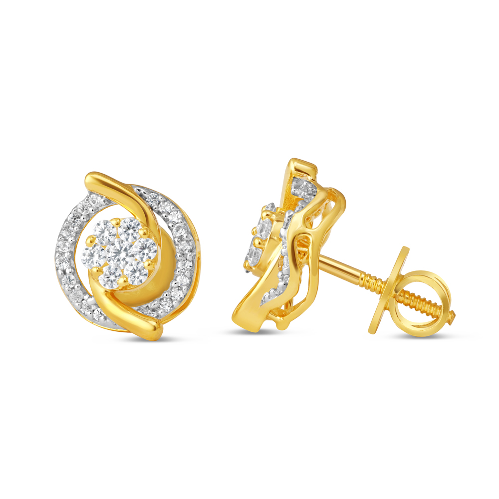 22ct Gold Earring 34610-2