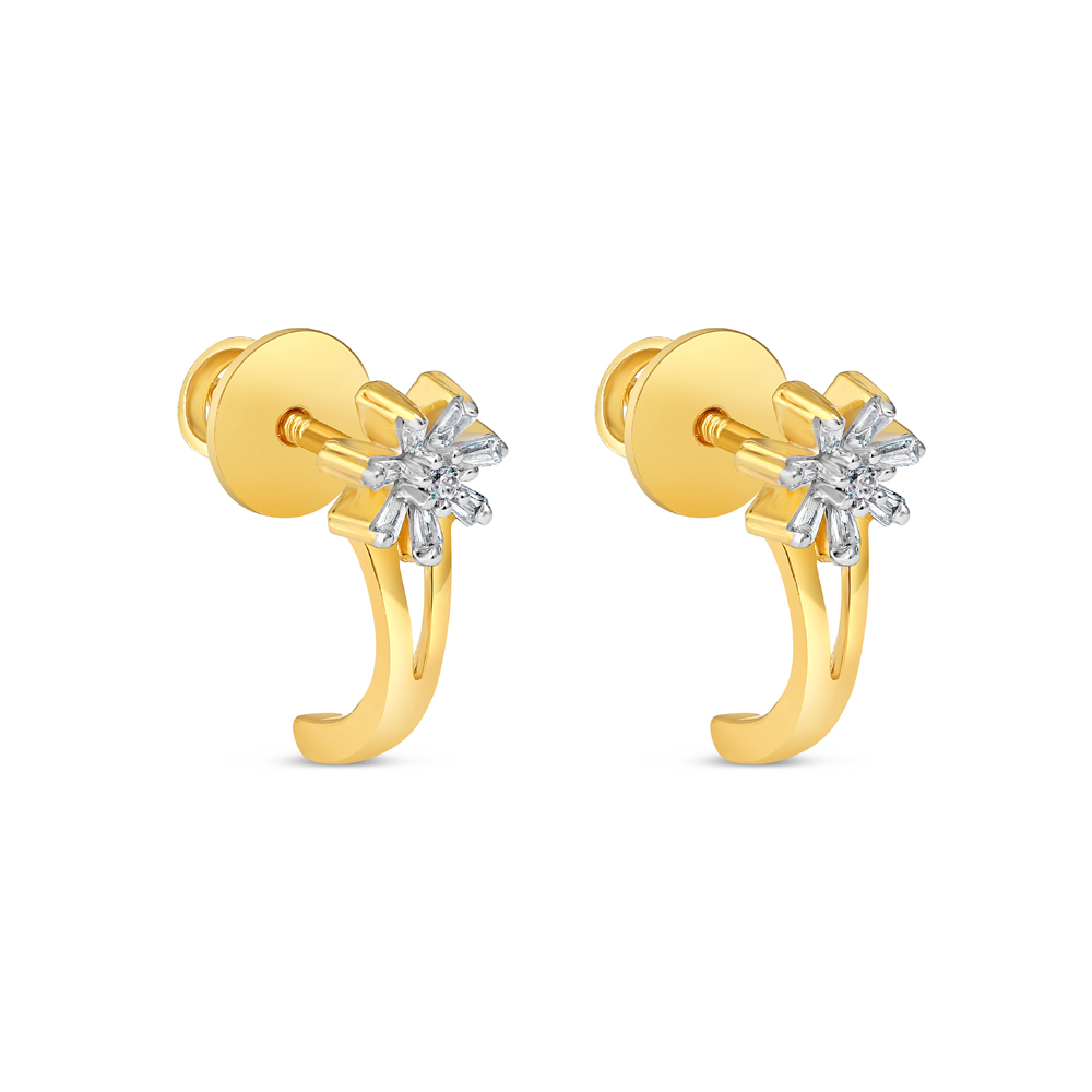 22ct Gold Stud Earring - 34613-1