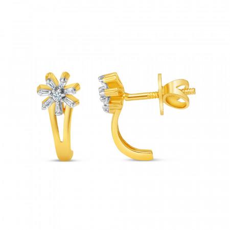 22ct Gold Stud Earring - 34613-2