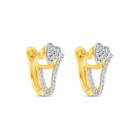 22ct Gold Earring 34627-1