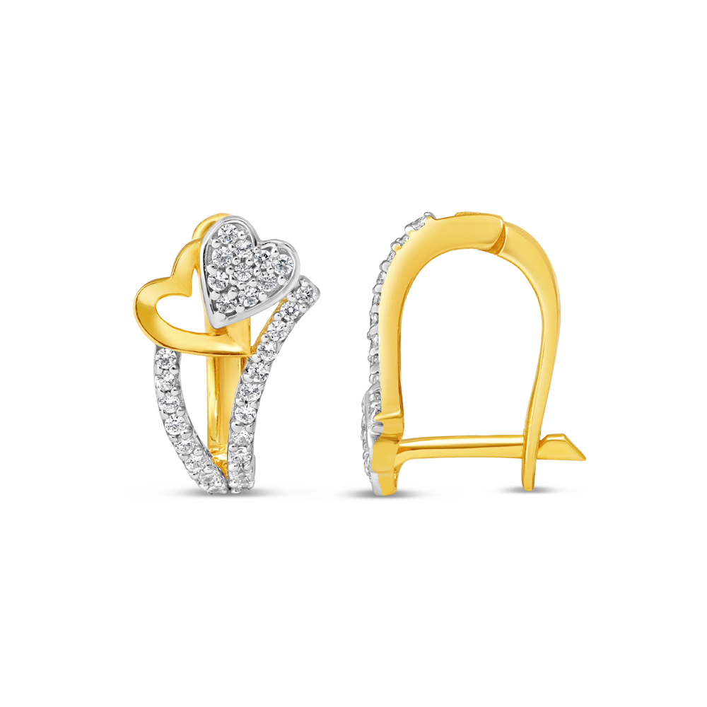 22ct Gold Earring 34627-2