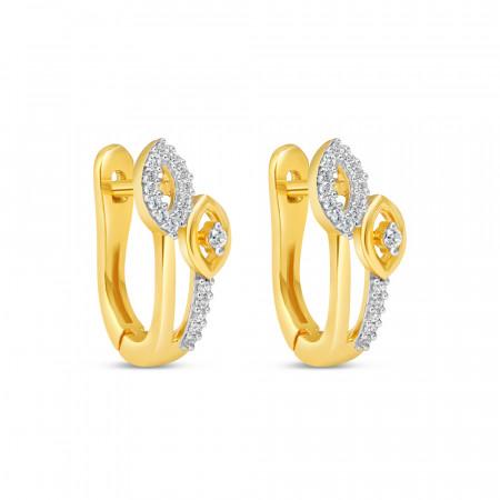 22ct Gold Hoop Earring 34628-1-1