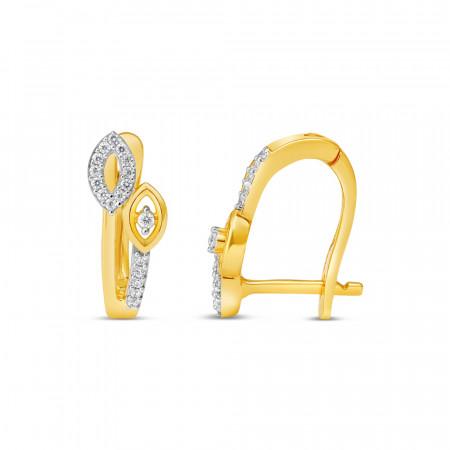 22ct Gold Hoop Earring 34628