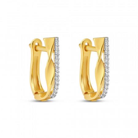 22kt Gold Daily Wear Bali Earring – 34629