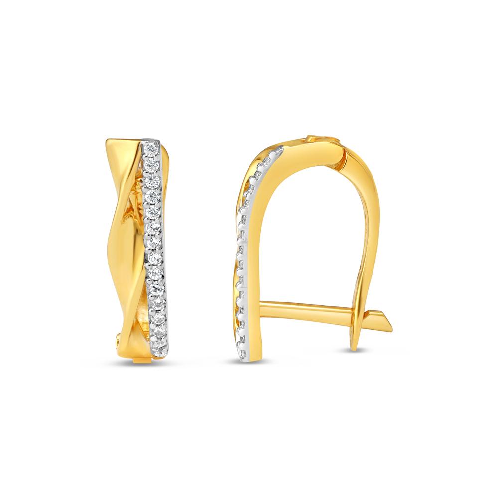 22kt Gold Daily Wear Bali Earring - 34629