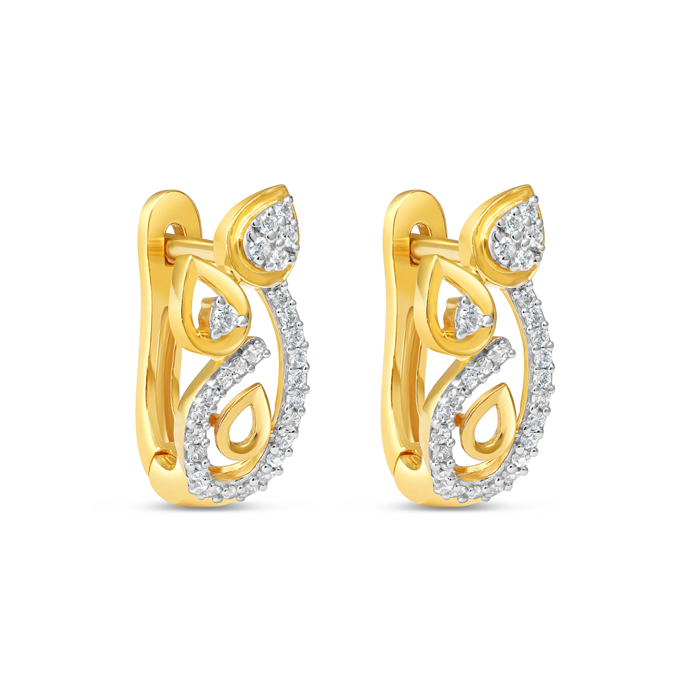22ct Gold Earring 34630-1
