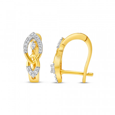 22ct Gold Earring 34631-2