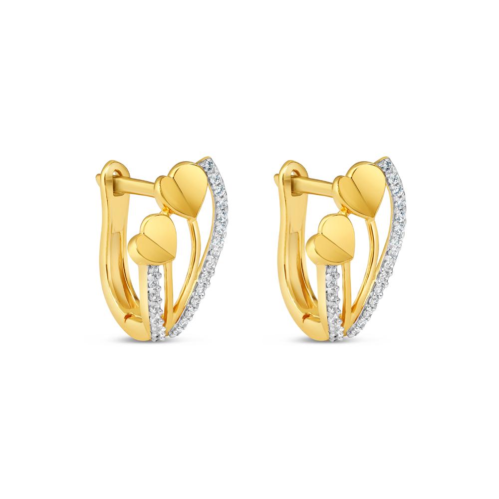 22ct Gold Bali Earring 34632-1