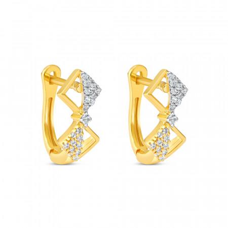 22kt Gold Daily Wear Earring – 34634