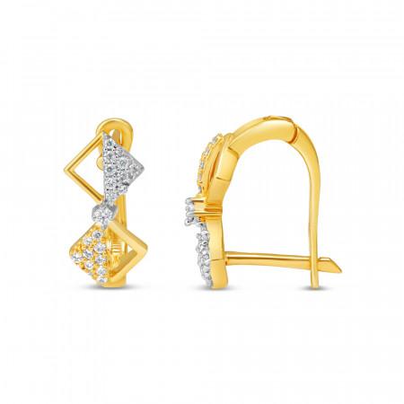 22kt Gold Daily Wear Earring - 34634