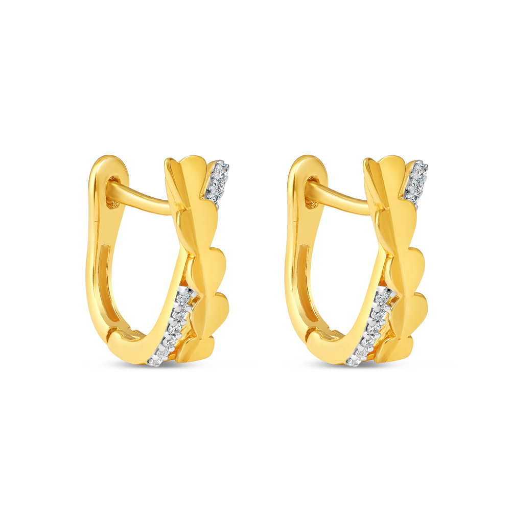 22 Karat Gold Earring with CZ Stones - 34635