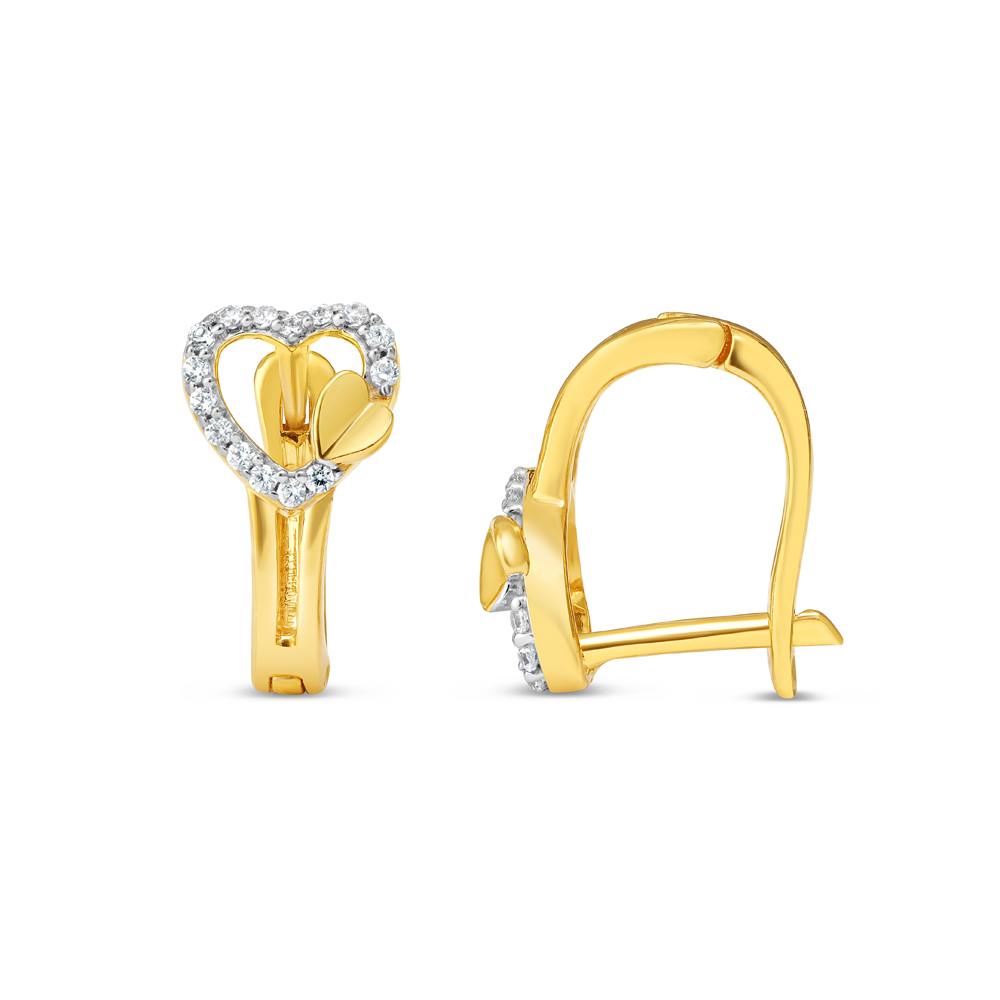 22ct Gold Earring 34640-1