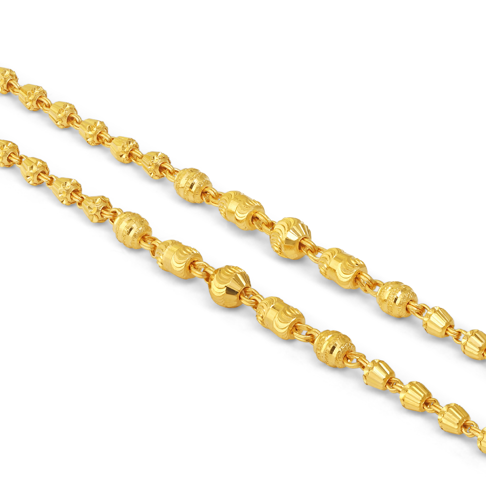 22ct Gold Baby Bracelet 34733-2