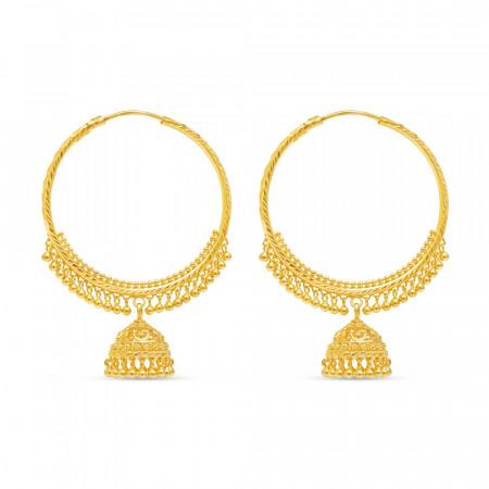 22ct Gold Earring 34734-1