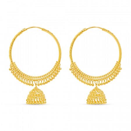 22ct Gold Earrin2 34734-1
