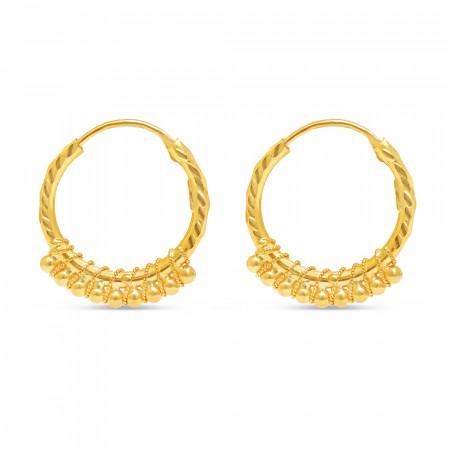 22kt Gold Earring 34739-1