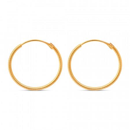 22 carat Yellow Gold Bali Earring 33670-1