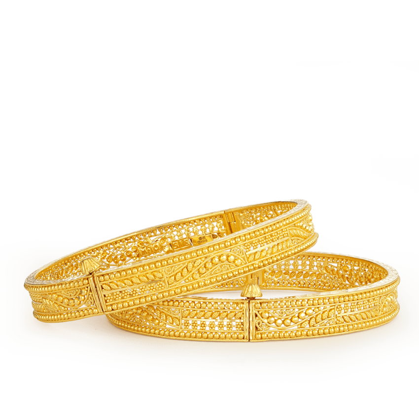21294 22ct gold jali bangles