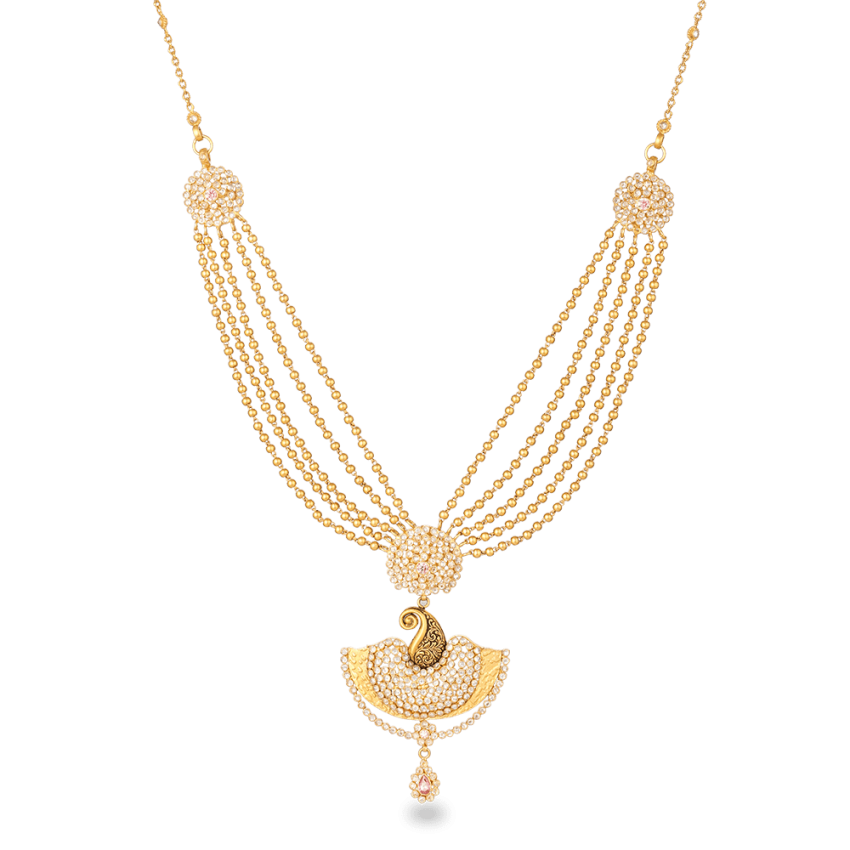 26486 22ct rose gold necklace