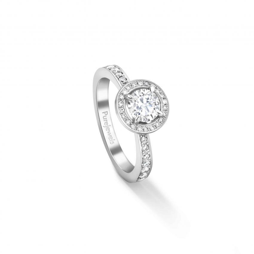 Bombay Deco Diamond Halo Ring