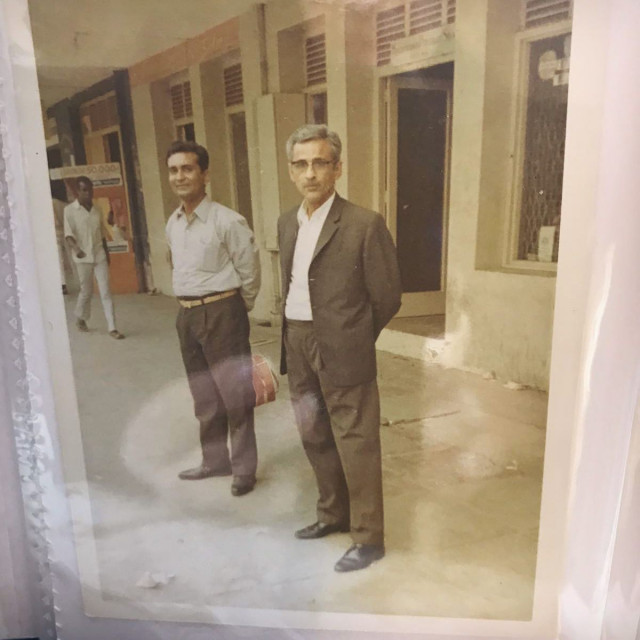 During this period of lockdown we are looking at our heritage and this amazing discovery caught our eye. PureJewels' founder Bhanji Gokaldas (right), probably taken circa 1960s in Nairobi, when he catered to the local jewellery lovers! We are loving the tailored suit!  #oldisgold #heritage #ourhistory #nostalgia #goldsmith